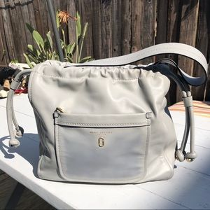 Marc Jacobs Tide up Hobo light grey, leather